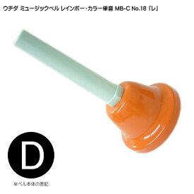 ウチダ・ミュージックベル 単音【カラー:高D】ハンドベル・レインボー・カラー MB-C NO.18 高い「れ」【ラッキーシール対応】