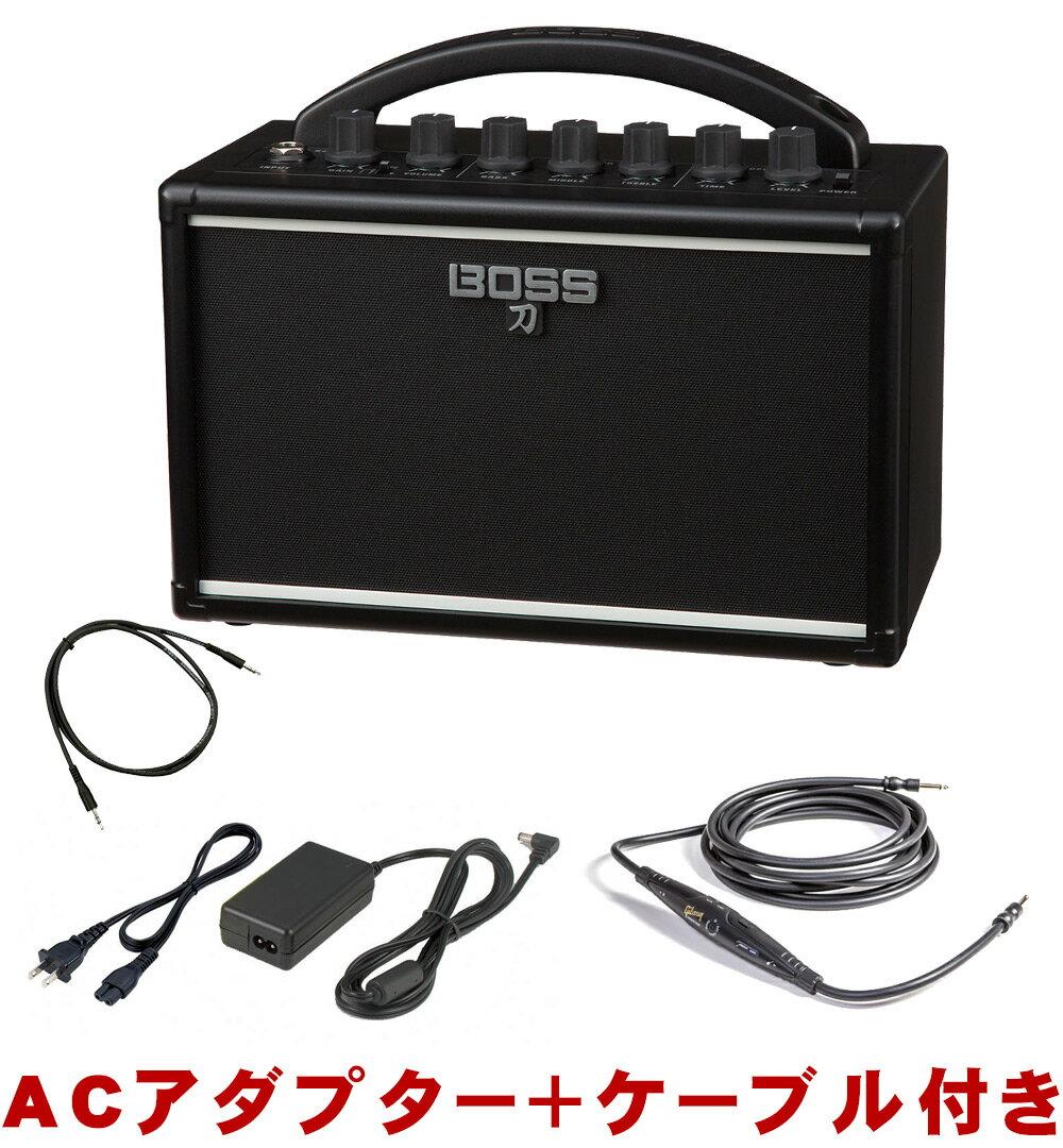 【送料無料】BOSS ミニギターアンプ KATANA MINI (ACアダプター・ステレオミニ接続ケーブル付き)【ラッキーシール対応】