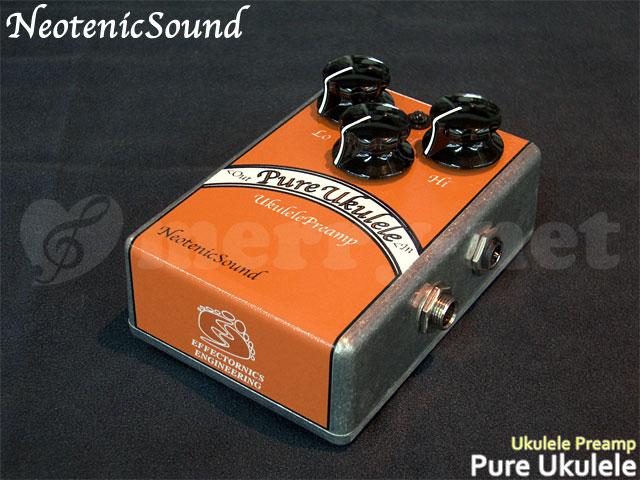 在庫あります■NeotenicSound ウクレレ用プリアンプ Pure Ukulele ネオテニックサウンド エフェクター EFFECTORNICS ENGINEERING【ラッキーシール対応】