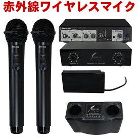【送料無料】audio-technica マイクミキサー AT-HMX71 + SOUNDPURE 赤外線ワイヤレスマイク2本セット【ラッキーシール対応】
