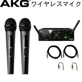 【送料無料】AKG ワイヤレスマイク2本/接続ケーブル・受信機付きセットパック)WMS40 PRO MINI VOCAL SET DUAL