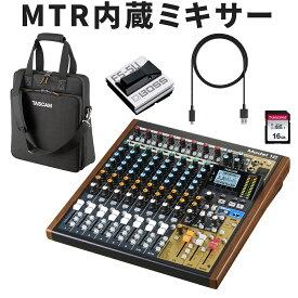 【20%OFFクーポン対象】【送料無料】TASCAM ミキサー/MTR MODEL12 (ソフトケース・フットスイッチ USBケーブル付きセット)