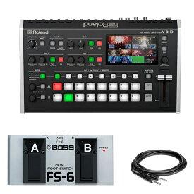 【送料無料】Roland ビデオスイッチャー V-8HD 純正オプションフットスイッチ FS-6付きセット