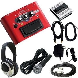 BOSS主唱效應器VE-2(有通用的AC適配器/脚開關/麥克風/USB電纜/耳機的安排)
