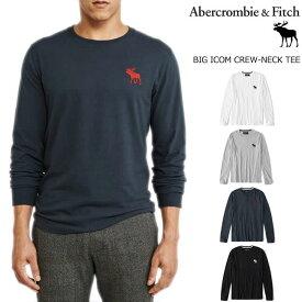 【全4色】 アバクロ 正規 ロンT 長袖 Tシャツ メンズ クルーネック 丸首 ビッグムース ワンポイント アバクロンビー&フィッチ メンズ Abercrombie&Fitch