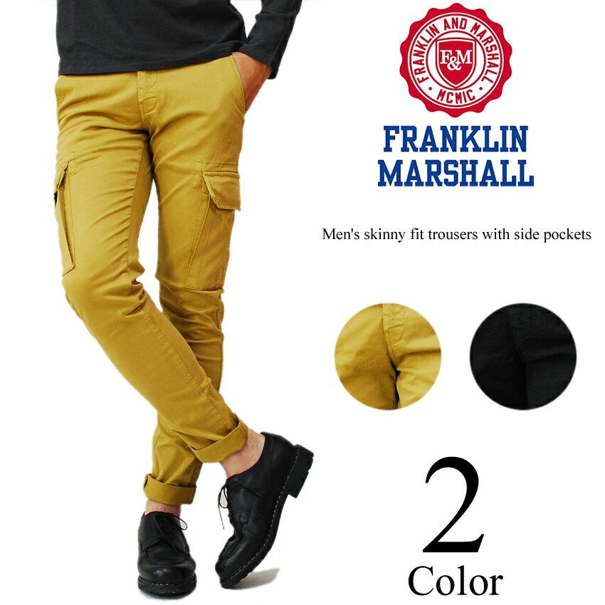 【50%OFF SALE セール】 フランクリン マーシャル スキニー カーゴパンツ スキニーパンツ FRANKLIN&MARSHALL 返品不可