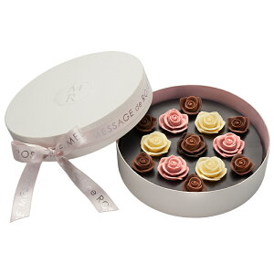 薔薇 バラ チョコ ギフト 贈り物 プレゼント 誕生日 お祝い お礼 バレンタイン 手土産 綺麗 おしゃれ かわいい メサージュ・ド・ローズ ソニア・ル・ブーケ L