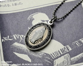 [ amp japan ] カラーマリアロケットネックレス/ Color Mary Locket -BLACK-(11AD-301)