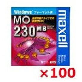 【送料無料】 maxell 3.5インチ MOディスク 230MB Windowsフォーマット 100枚セット