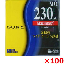 【送料無料】 SONY 3.5インチ MOディスク 230MB 100枚セット 3.5型