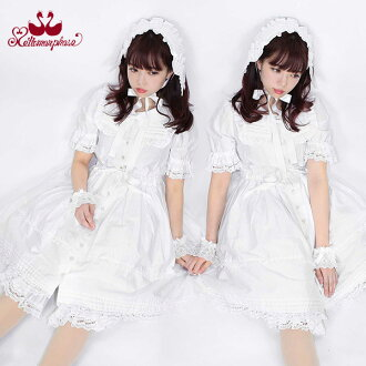 ★Dolly cotton short sleeves dress, plain (12081019)☆ Metamorphosing - metamorphose -
