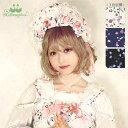 【SALE】メタモルフォーゼ memories garden ハーフボンネット風 カチューシャ【ロリータ ロリィタ クラロリ】