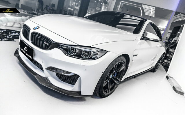 BMWF80F82M3M4フロントバンパー用カーボンリップスポイラーDryCarbon本物ドライカーボンPSM