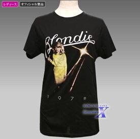 【ブロンディーBlondieオフィシャルTシャツ】レディース(ブラック)