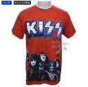 【KISSオフィシャルTシャツ】メンズ・レッド