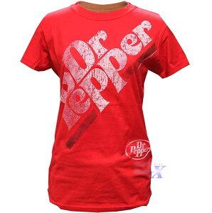 【Dr.Pepper ドクター・ペッパー・オフィシャルTシャツ】レディース(レッド)