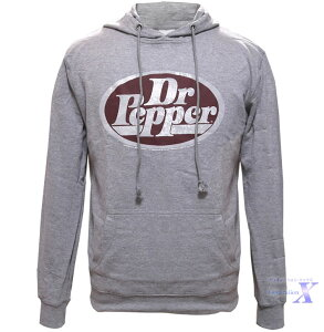 【Dr.Pepper ドクターペッパー米国公式メンズパーカー】グレー