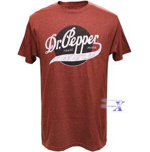 Dr.Pepper ドクター・ペッパー米国公式メンズTシャツ (初代ロゴ) ドクターペッパー (50% Cotton 50% Polyester)