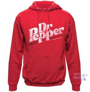 【Dr.Pepper ドクターペッパー米国公式メンズパーカー】レッド