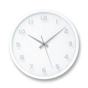 nine clock ホワイト 電波時計 LC08-14W WH