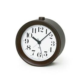 Lemnos(レムノス)RIKI ALARM CLOCK アラーム時計 ブラウン WR09-15 BW【ポイント10倍】☆☆