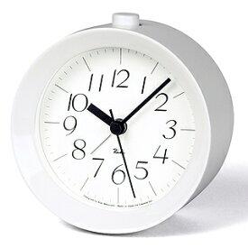 Lemnos(レムノス)RIKI ALARM CLOCK アラーム時計 ホワイト WR09-14 WH【ポイント10倍】