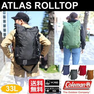 科尔曼Coleman地图册角色最高层背包(33L)[全6色]ATLAS ROLLTOP男女两用(男女兼用)_11606F(trip)