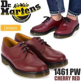 ドクターマーチン 3ホールシューズ 1461 プレーンウェルト ポストマンシューズ[チェリーレッド](10078602)Dr.Martens 1461 PW 3 EYE SHOE メンズ レディース【靴】_1709trip