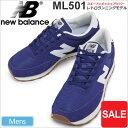 月末限定★店内2点以上で5%OFFクーポンニューバランス new balanceML501 CVC[ネイビー/ホワイト]メンズ(男性用)【靴…