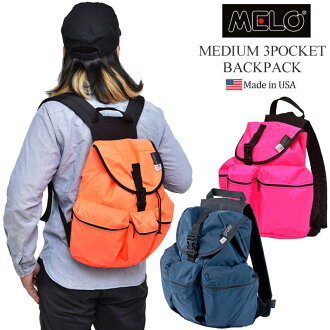 MELO MEDIUM 3POCKET BACKPACK[全11色]meromidiamu 3口袋背包男女兩用(男女兼用)_11507F(trip)