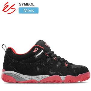 【正規取扱店】エス スニーカー 'es シンボル(ブラック レッド)(25.5-28cm)SYMBOL メンズ【靴】 snk 1909trip新生活