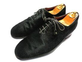 【中古】フェランテ 革靴 10 28 28.5 黒 ブラック ハラコ ホールカット ワンピース FERRANTE