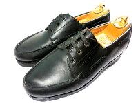 【中古】JMウエストンヨット革靴7D26cm690旧ロゴ黒ブラックデッキシューズJ.MWESTON