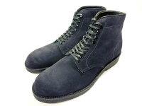 【新品】ALDENオールデンスエードプレーントゥマンソンブーツ826cm紺ネイビープランテーションソール6インチブーツ/990