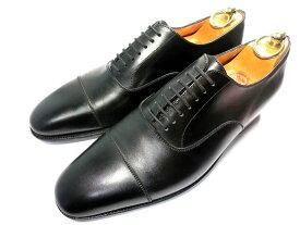 【中古】JMウエストン 革靴 61/2 D 25.5 ストレートチップ 黒 ブラック ビジネスシューズ 黒スト 冠婚葬祭 JM WESTON J.M. Weston