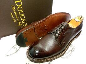 【新品】DOUCAL'S 革靴 40 25.5〜26cm 焦げ茶 ダークブラウン 外羽根 プレーントゥ ドゥーカルス デュカルス