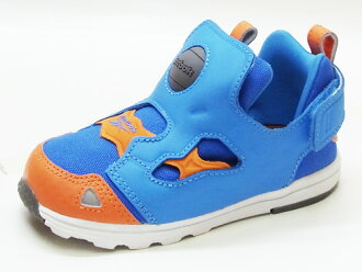 REEBOK Reebok VERSA PUMP FURY Vaasa ポンプフューリー blue/orange blue and orange sneakers kids 13 SS