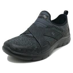 SKECHERS FLEX APPEAL 2.0 NEW IMAGE black mesh/hot melt/trim(黑色網絲/熱融化/修剪)12752-BBK 18SS
