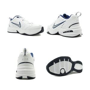 スニーカーナイキNIKEエアモナーク4ホワイト/シルバー/ネイビーメンズレディースシューズ靴18HO