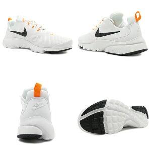 スニーカーナイキNIKEプレストフライJDIホワイト/ブラック/オレンジメンズレディースシューズ靴18FA