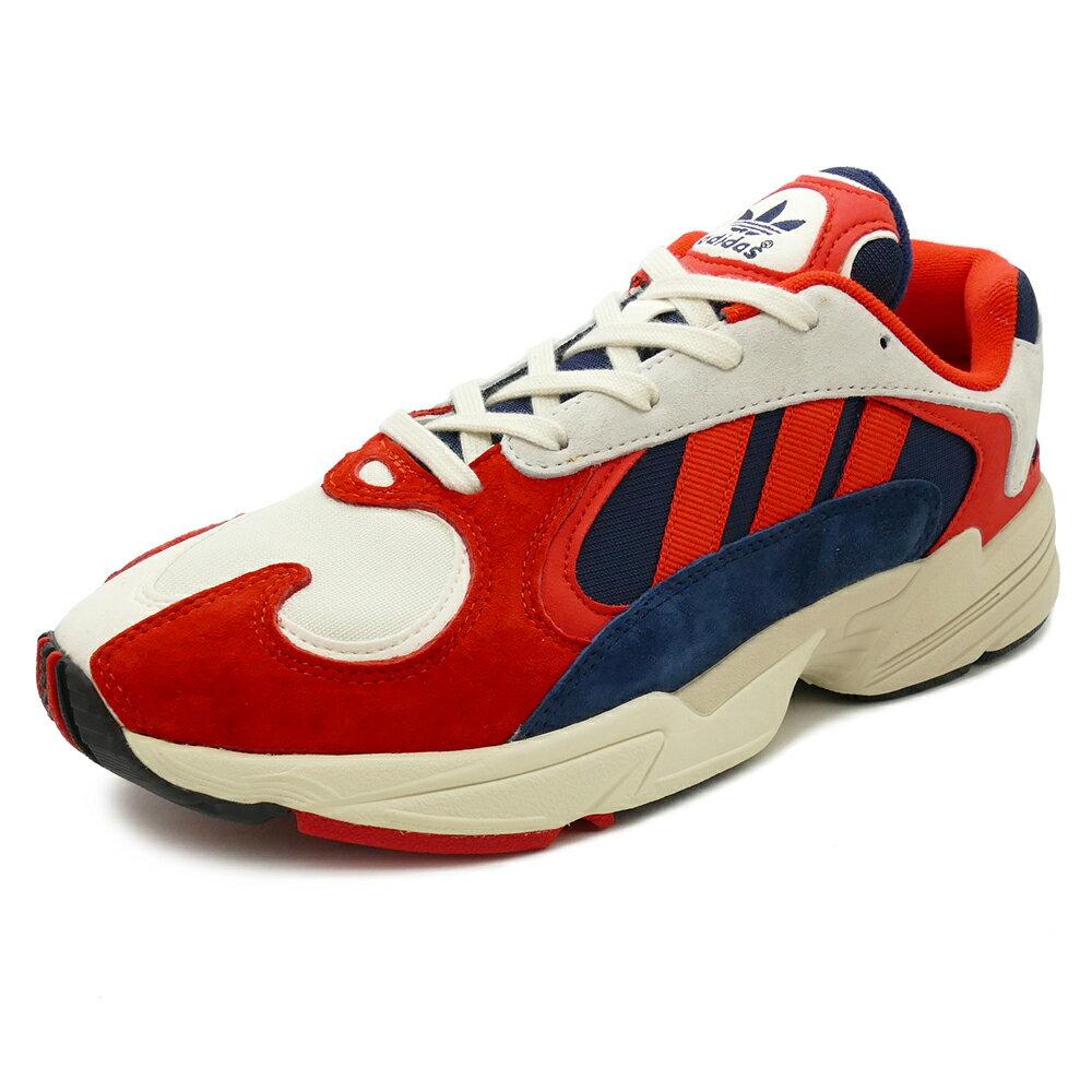 スニーカー アディダス adidas YUNG~1 ヤング1 ホワイト/レッド/ネイビー メンズ レディース シューズ 靴 18FW