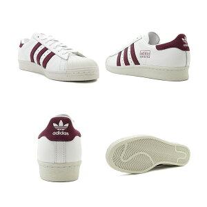 スニーカーアディダスadidasスーパースター80sランニングホワイト/マルーンメンズレディースシューズ靴19SS