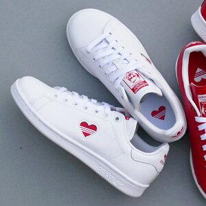 スニーカーアディダスadidasスタンスミスウィメンズホワイト/レッドレディースシューズ靴19SS