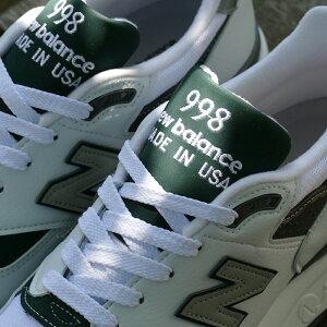 NEWBALANCEM998JWG【ニューバランスM998JWG】white/green(ホワイト/グリーン)NBM998-JWG18SS