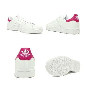 スニーカーアディダスadidasスタンスミスJホワイト/ピンクジュニアレディースシューズ靴19FW