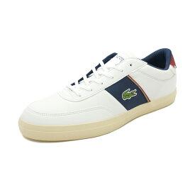 スニーカー ラコステ LACOSTE コートマスター ホワイト/ネイビー/レッド メンズ シューズ 靴 19FW