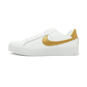 スニーカーナイキNIKEウィメンズコートロイヤルACホワイト/メタリックゴールドレディースシューズ靴19HO