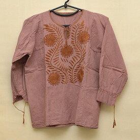 メキシコ手刺繍ブラウス七分袖(4)