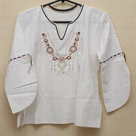 メキシコ七分袖刺繍ブラウス(5)《送料無料》