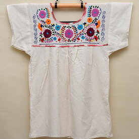 メキシコ手刺繍ブラウス(65)《送料無料》